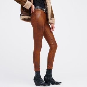 Free People Vegan Leather Never Let You Go Pants